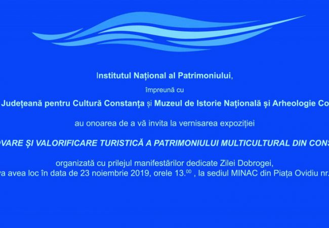 """Constanța: expoziția """"PROMOVARE ȘI VALORIFICARE TURISTICĂ A PATRIMONIULUI MULTICULTURAL DIN CONSTANȚA"""""""